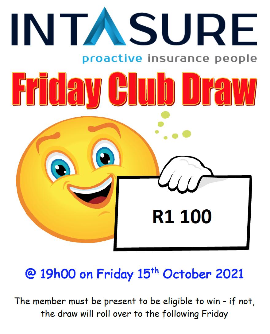 Friday Club Draw - 15 October 2021